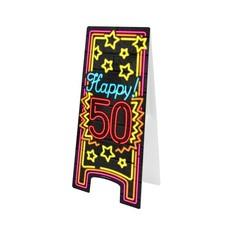 Neon attentiebord 50 jaar