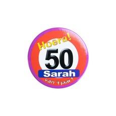 Button klein Sarah verkeersbord