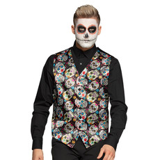Halloween Gilet Day of the dead