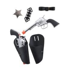 Dubbele Holster met pistolen/riem en sherrifster