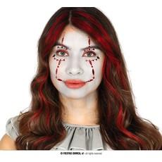 Gezichtsjuwelen Stickers Horror Clown
