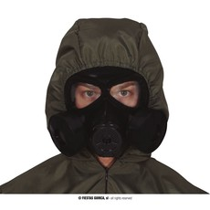 Plastic Gasmasker Zwart