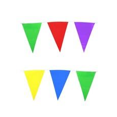 Vlaggenlijn diverse kleuren 10m