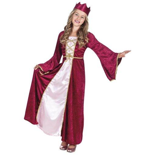 Kinderkostuum Renaissance koningin