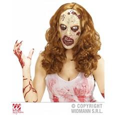 Zombie dames pruik met masker