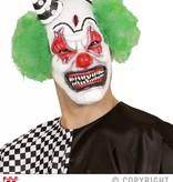 Killerclown masker met haar en mini hoed
