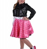 Rock en Roll rokje Grease kind pink elite