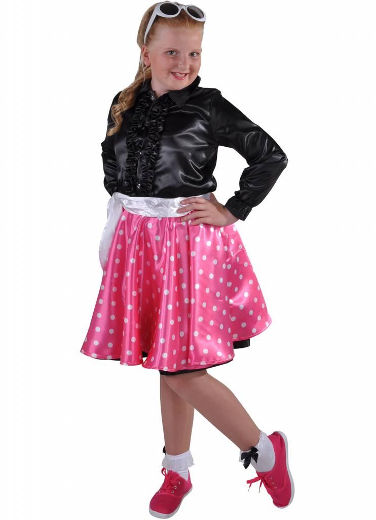 Rock en Roll rokje Grease kind pink elite