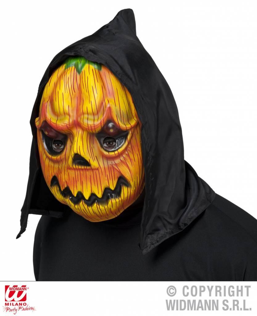 Pompoen masker met kap Halloween