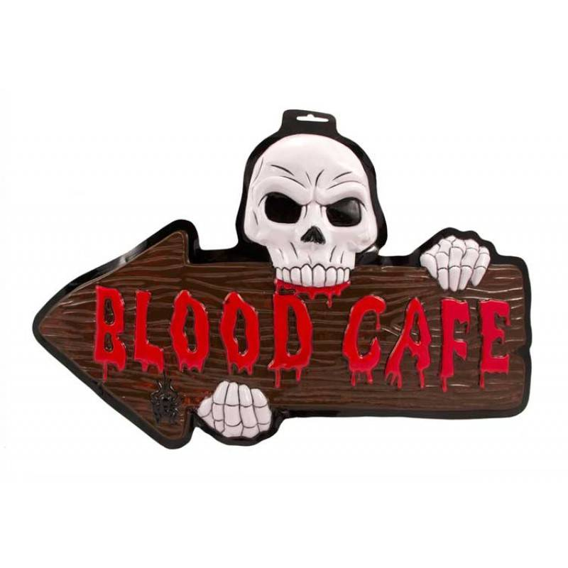 3d deurbord blood cafe halloween