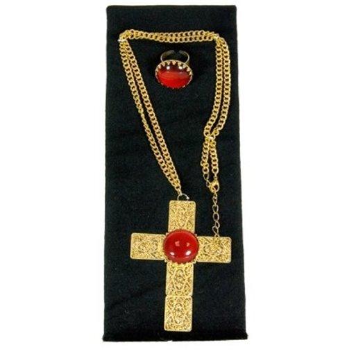 Sinterklaasset kruis en ring