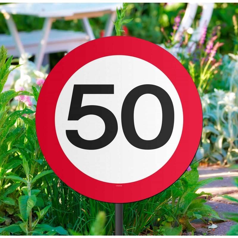 Tuinbord Verkeersbord 50 Jaar