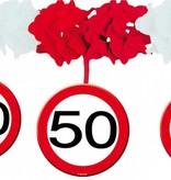 Slinger onderhanger verkeersbord 50