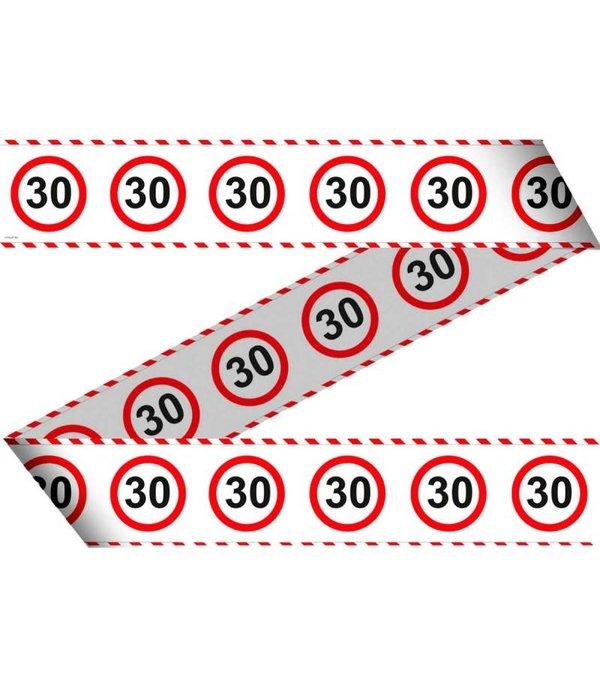 Afzetlint Verkeersbord 30