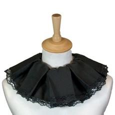 Piet kraag trevira zwart met kant