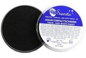 Aqua compactschmink zwart 16gr nr.23