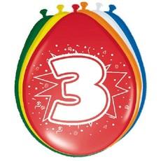 Ballonnen '3' (8 st)