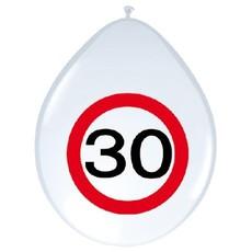 Ballonnen verkeersbord 30 (8 st)
