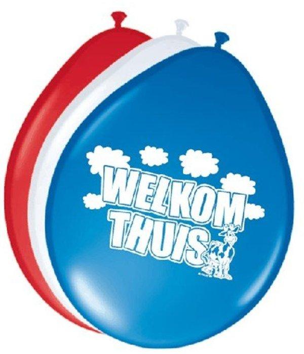 Ballonnen 'Welkom thuis' (8 st)