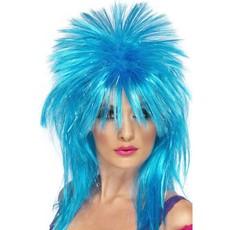 Sparkle Rock Diva pruik blauw