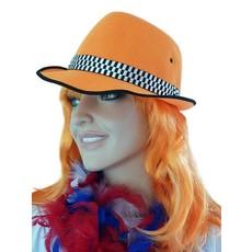 Hoed linnen oranje