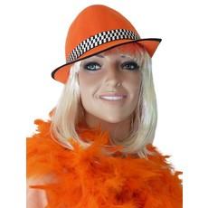 Hoed linnen donker oranje