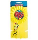 Rozet ballon 65 geel