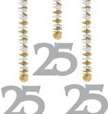 Hangdecoratie 25-jarig huwelijk