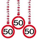 Hangdecoratie verkeersbord '50'