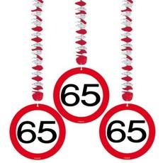 Hangdecoratie verkeersbord '65'