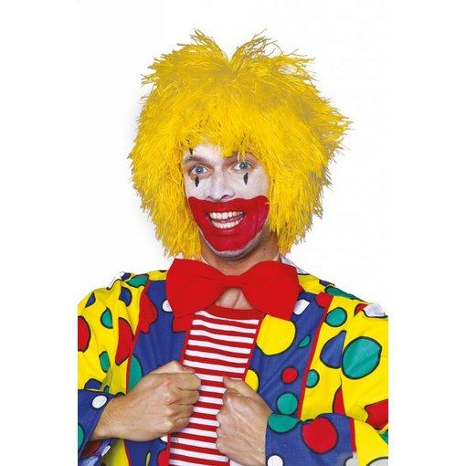 Pruik clown geel