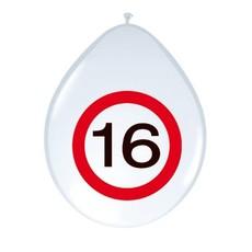 Balllonnen Verkeersbord 16 (8st)