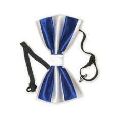 Strik luxe blauw/wit