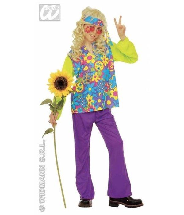 hippie kleding kind 4-delig prosperity - feestbazaar.nl