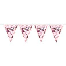 Vlaggenlijn ooievaar roze
