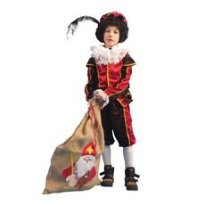 Zwarte pietenkleding kind 4-delig Soria