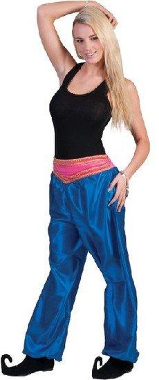 Broek Ali Baba vrouw deluxe blauw