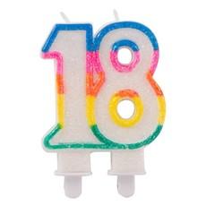 Glitterkaarsje 18 met Houder