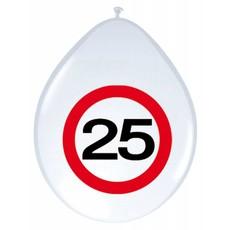 Verkeersbord Ballonnen 25 Jaar - 8 stuks