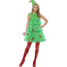 Kerstboom kostuum dames