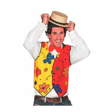 Gilet clown bloem