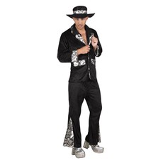 Foute Pimp kostuum zwart
