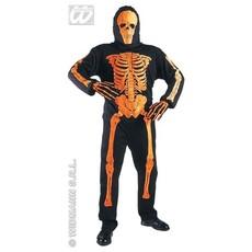 3D Neon Skelet kostuum oranje