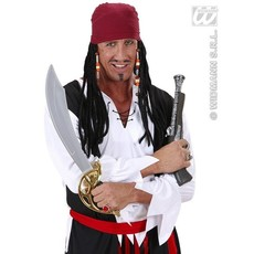 Carribische Piratenpruik met Bandana