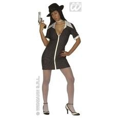 Gangster dames kostuum
