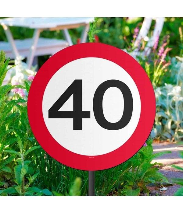 40 Jaar Verkeersbord Tuinbord
