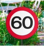 60 Jaar Verkeersbord Tuinbord