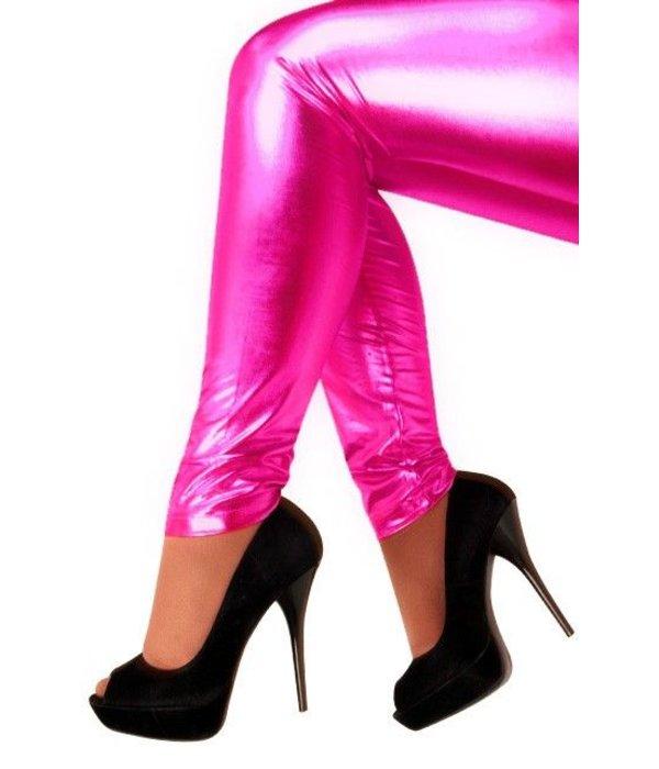 Legging folie neon pink