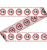 Afzetlint verkeersbord 18