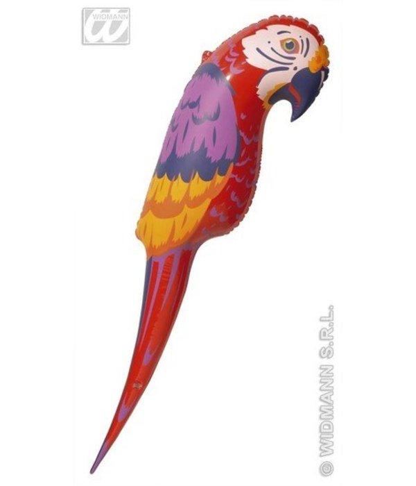 Opblaas papegaai 110 cm